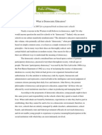 Articles What is Democratic Education