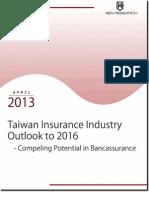 Taiwan Insurance market driven by Bancassurance