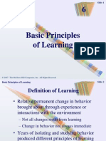 Chapter 6 - Basic Principles of Learning