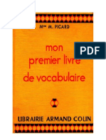 Langue Française Vocabulaire Mon Premier Livre de Vocabulaire Md M Picard