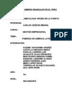 AÑO DE LAS CUMBRES MUNDIALES EN EL PERÚ