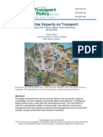 Land Use Impacts on Transport