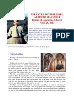 In prayer with b. Alberto Marvelli