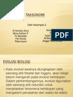 Evolusi Dan Taksonomi Kelompok 2