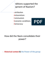 What Conditions Supported the Development of Naziism