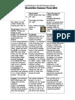 Year 1 Summer Newsletter 2013