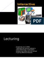 Delivering Lecture