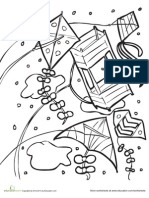 Kite Coloring Page 2 Printable