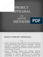 Project Appraisal Methods