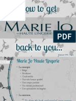 Presentatie Brand Review Marie Jo