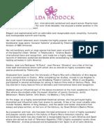 Gilda Haddock Biography