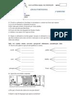 AVALIAÇÃO DE LÍNGUA PORTUGUESA 6º ANO - 1º BIMESTRE (18-04-2013)