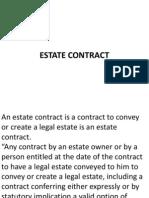 Equitable Interest Estate and Proprietary Estoppel