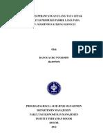 Analisis Perancangan Ulang Tata Letak Fasilitas Produksi Pabrik Lama Cv.massitoh
