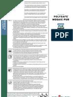 Polysafe Mosaic PUR Product Spec