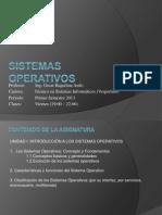 Clase 1 Sistemas Operativos