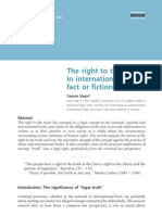 The Right to the Truth in International Law (Fact or Fiction)