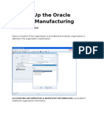 Oracle Process Manufacturing Setup