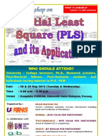 Partial Least Square (PLS) and its Applications May 2013