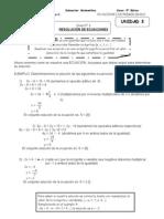 ecuaciones 8º