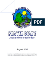 Prayer Diary May 2013