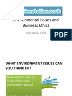 Environmental Issues and Business Ethics