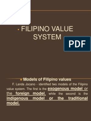 Filipino Value System   Value (Ethics)   Psychological Concepts
