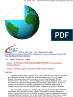 Teaching English Language_ Problems and Remedies _ English - Archive - ISRJ.pdf