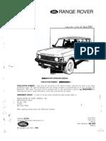 RR Classic 87-91 Workshop Manual Part SRR652USWMA