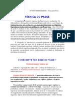 ESTUDO SOBRE PASSES  - Técnica do Passe