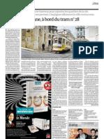 "Eléctrico 28, ex-libris de Lisboa, em destaque no ""Le Monde""."