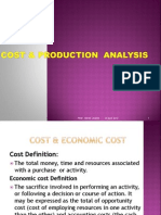 Unit III Cost & Productions Analysis