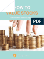 How to Value Stocks - By Value Spreadsheet