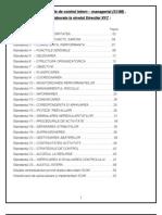Sistemul de control intern – managerial, Directia XYZ