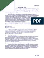 Principe  fonctionnement  Régulateur