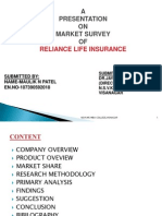 MARKET SURVEYOF RELIANCE LIFE INSURANCE
