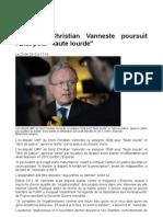 """L'ex-UMP Christian Vanneste poursuit l'Etat pour """"faute lourde""""  Public Sénat du 23-04-2013.odt"""