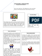 Y1 Newsletter Autumn Term 2012