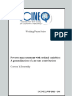 Poverty Assessment With Ordinal Variables