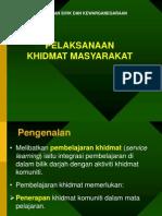 Pelaksanaan Khidmat Masyarakat PSK 1--4-2009