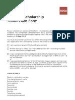 Borang Permohonan Biasiswa ACCA Simpson Scholarship Submission Form
