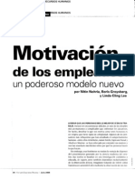 Motivacion de Los Empleados Un Poderoso Modelo Nuevo