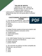 Cuestionario Rafael Pombo