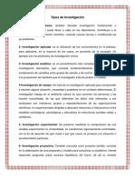 10 Tipos de Investigación