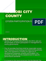 Nairobi County Citizen Participation Forum