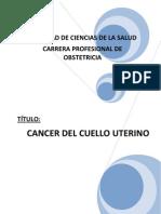 Cancer Del Cuello Uterino