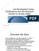 Professional Development Through ASQ Certification Exams