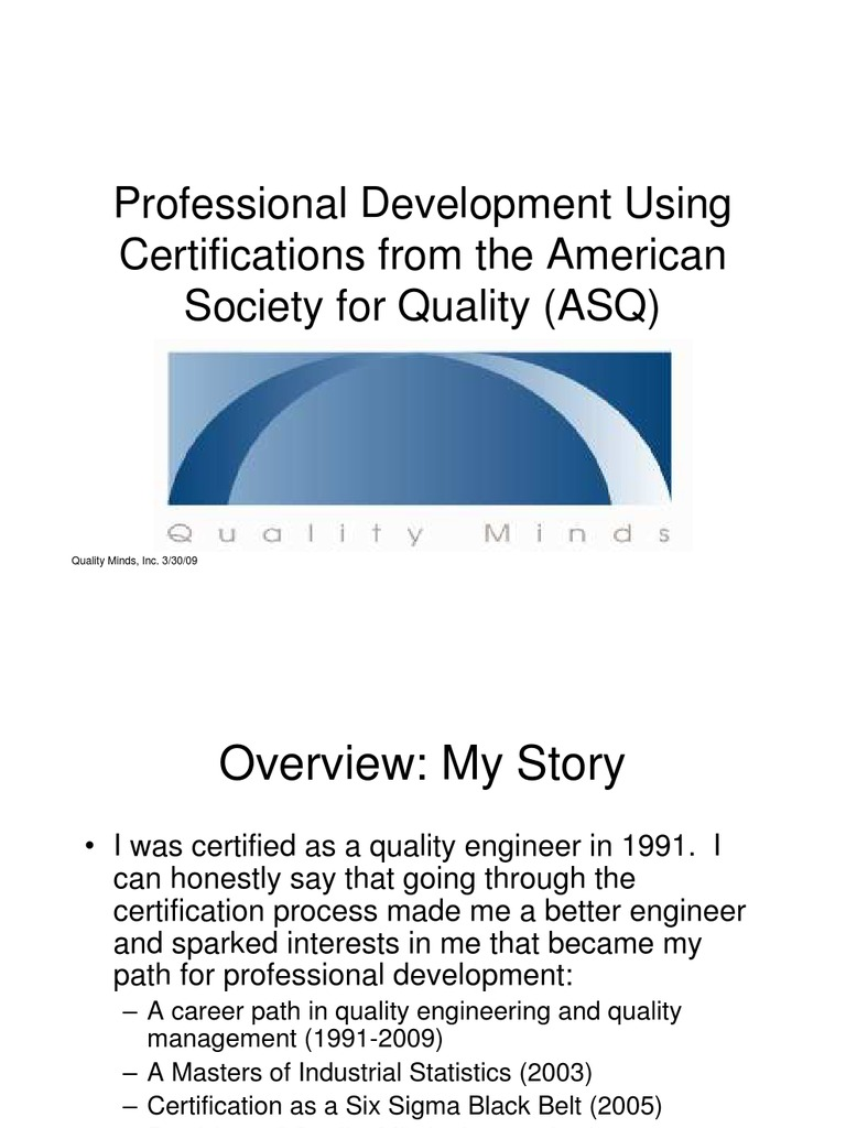 Professional development through asq certification exams six professional development through asq certification exams six sigma test assessment 1betcityfo Image collections