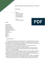 ESPECIALIDAD BACHILLERATO EN CIENCIAS GENERALES PROYECTO DE GESTIÓN PARA BACHILLERATO