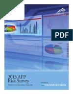 2013 AFP Risk Survey